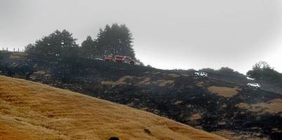 Marin County: Pilot killed in plane crash that ignites 40-acre grass fire