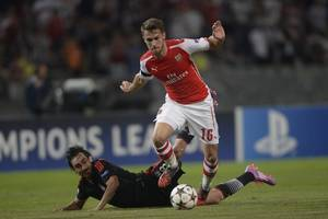 UEFA Champions League Schedule, Round Up, Results: Aaron Ramsey Sent Off as Arsenal Held